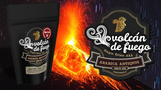 Batch 17 of Volcán de Fuego, Rare Volcanic Coffee, Announced