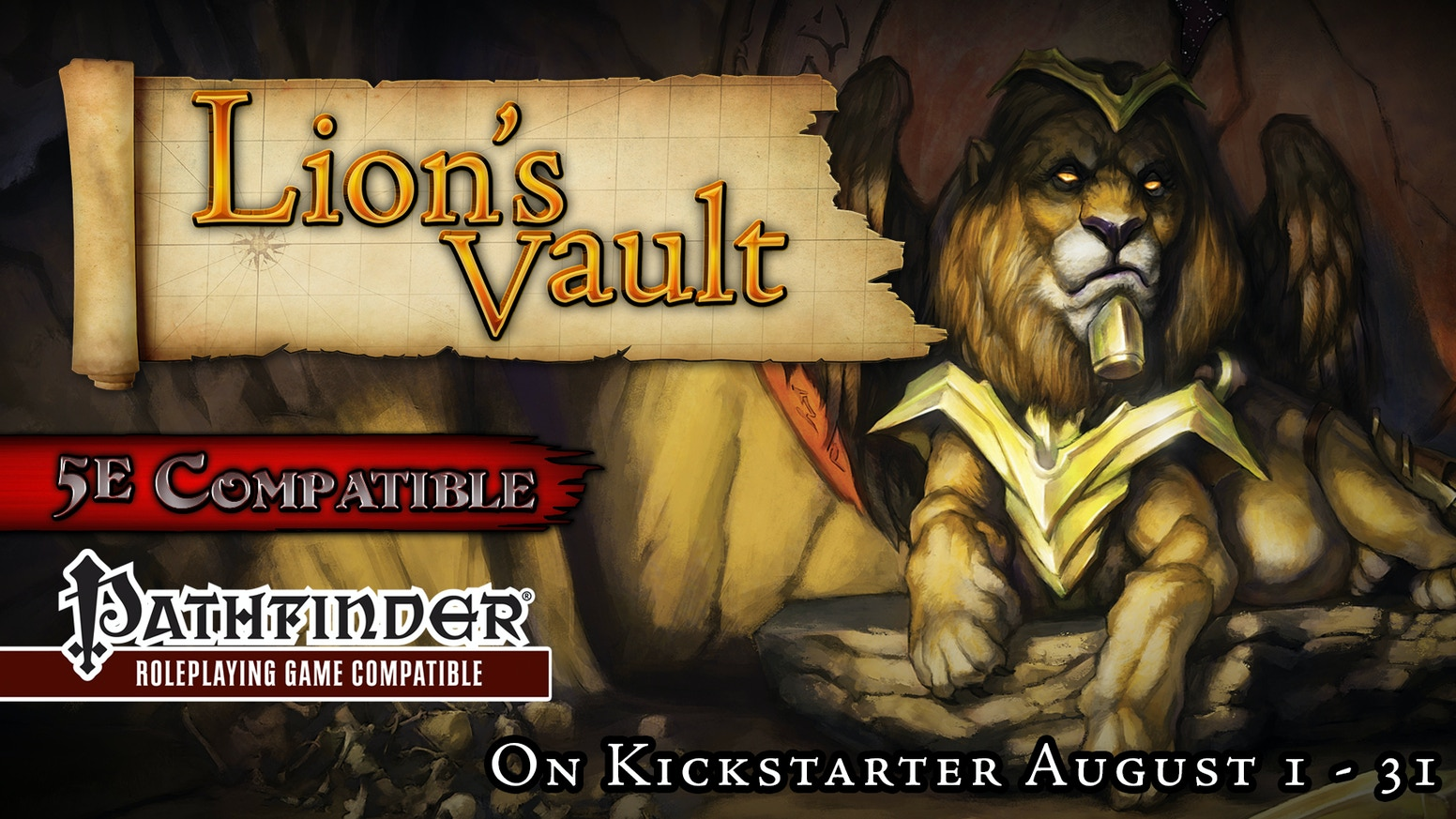 The Lion's Vault - Part 3 of the Fate of the Forebears adventure path for 5th Edition D&D and Pathfinder RPG.