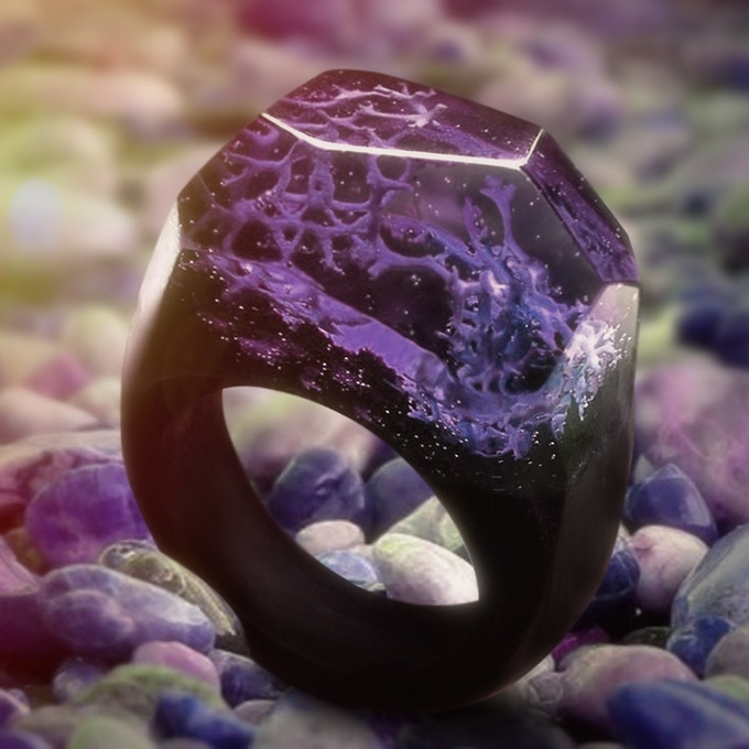 Purple Coral Ring