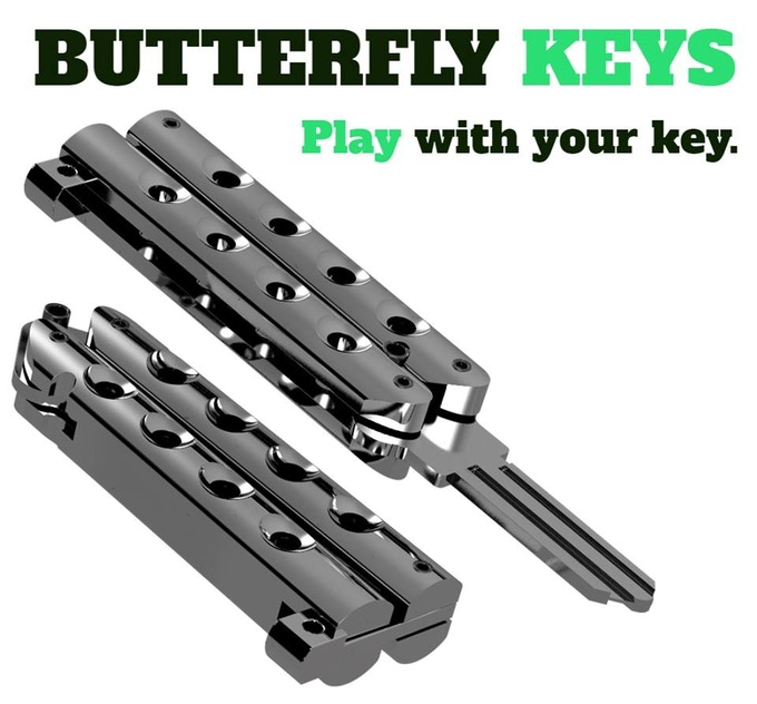 ButterflyKey - Butterfly Knife Style Key Blanks - EDC by