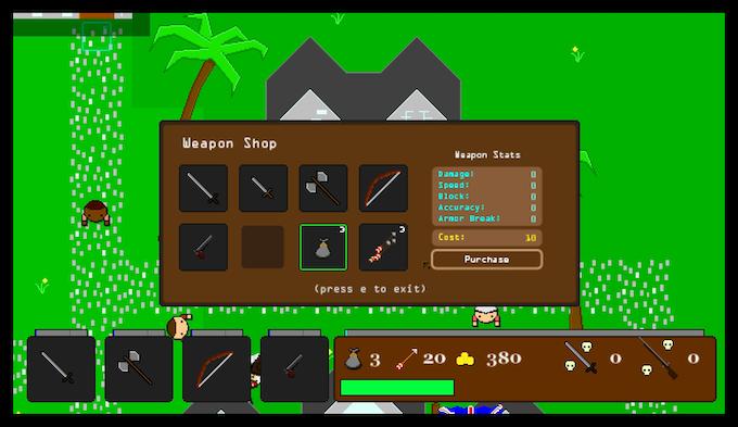 A common weapon shop.