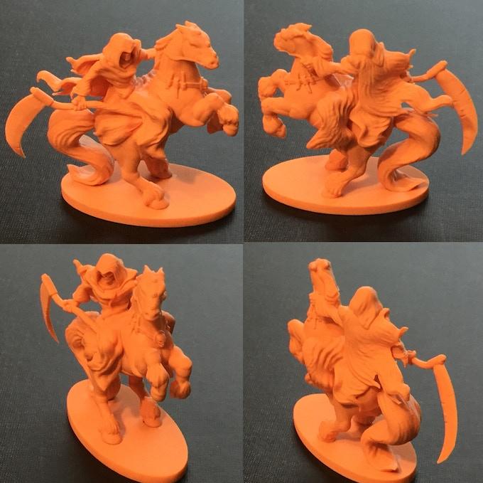 Horseman mini-fig - sample colouring