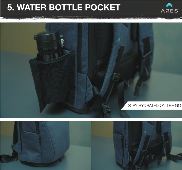 d27380149b Located on both sides of the bag is a side pocket that expands to carry  your water bottle keeping you hydrated in the gym