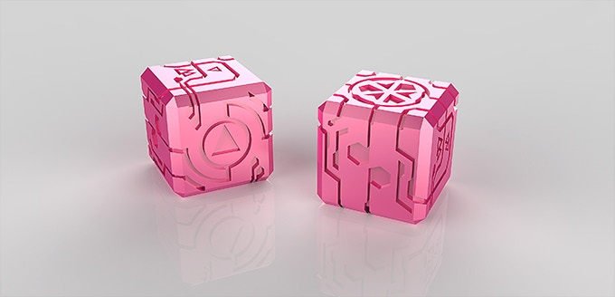 Unlocked: Clear-Pink Anodized