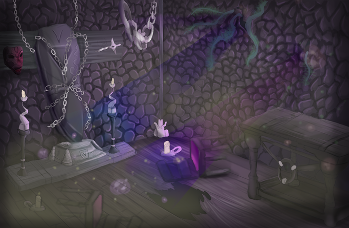 Concept art for Count Varias' lair