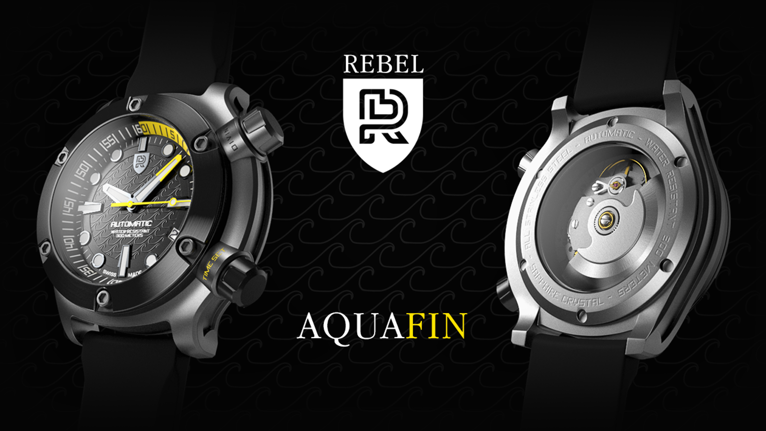 AQUAFIN. A SWISS MADE Automatic Dive Watch. Hand Assembled. LIMITED EDITION. 3 Year International Warranty.
