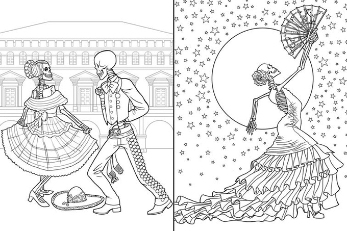 Dia de los Muertos Coloring Book by Edgy Brothers by Edgy