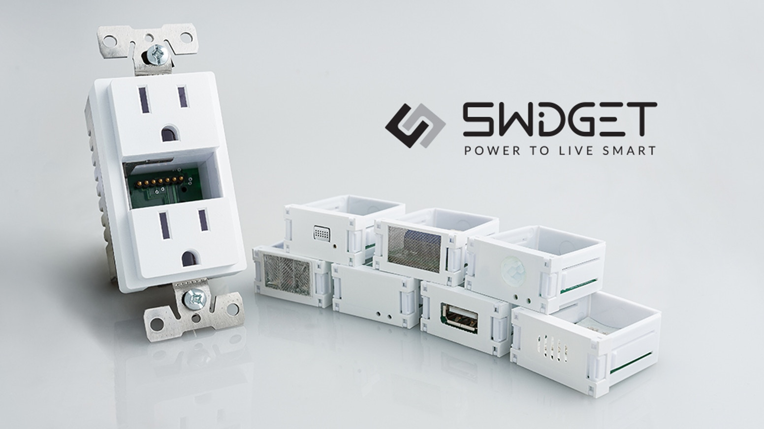 Installed using your existing wiring, Swidget eliminates clutter by hiding your smart home technology into an extraordinary outlet.