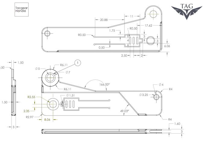 CAD knife handle