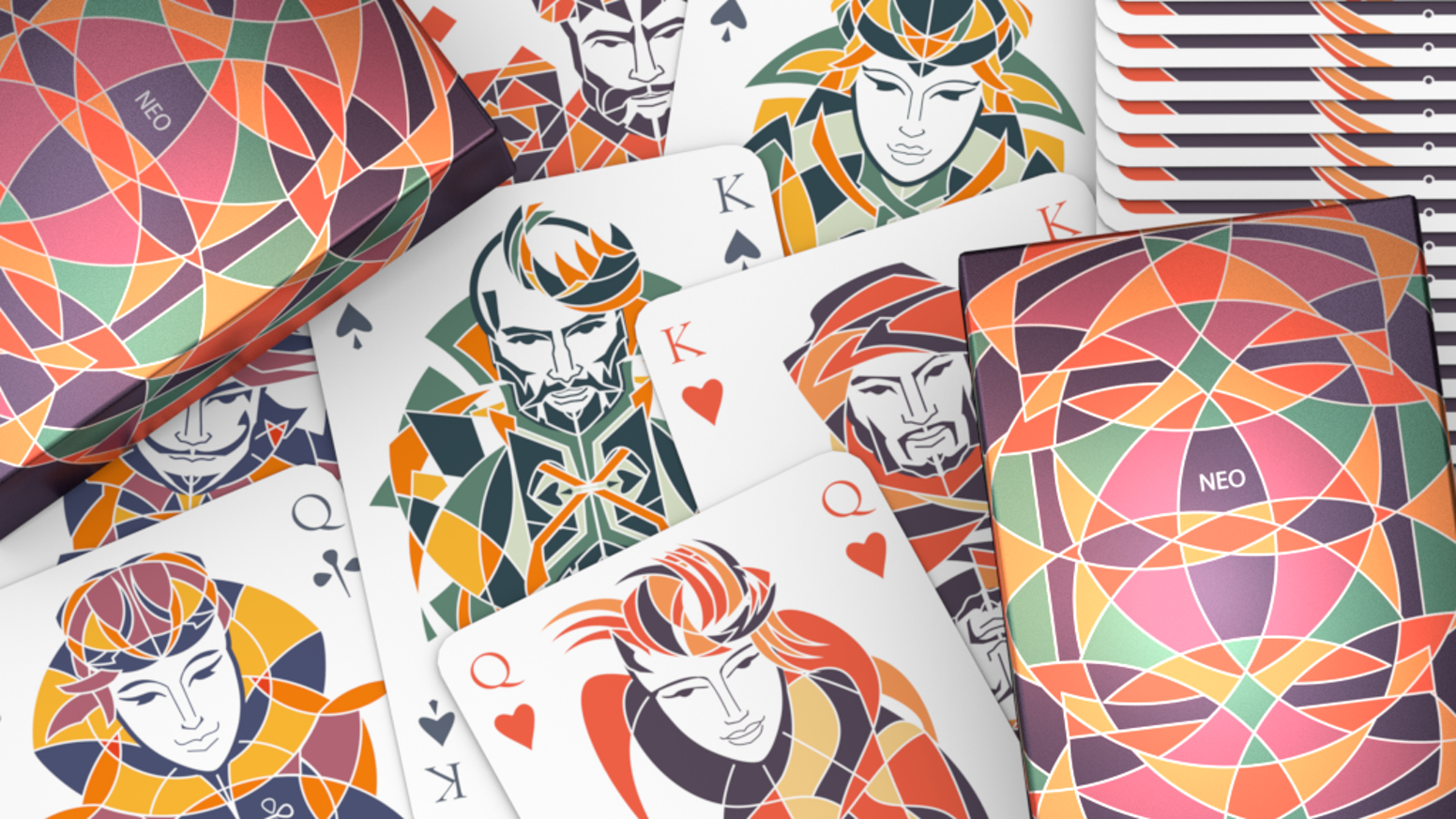 Modern and colorful playing cards. Printed by USPCC*