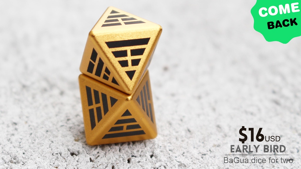Bagua Dice Comeback Collectable Metal Binary Dice By Anvi Original