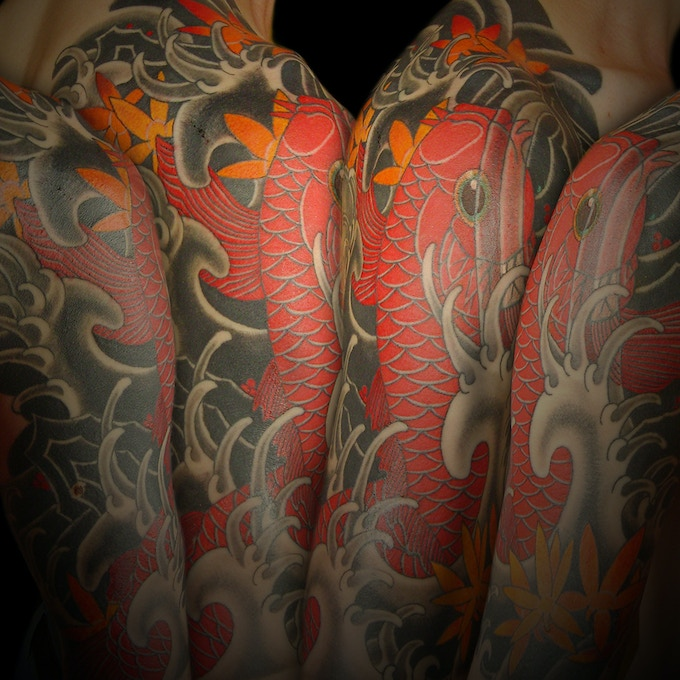 The koi fish theme is extremely popular and makes for beautifully dynamic tattoos.