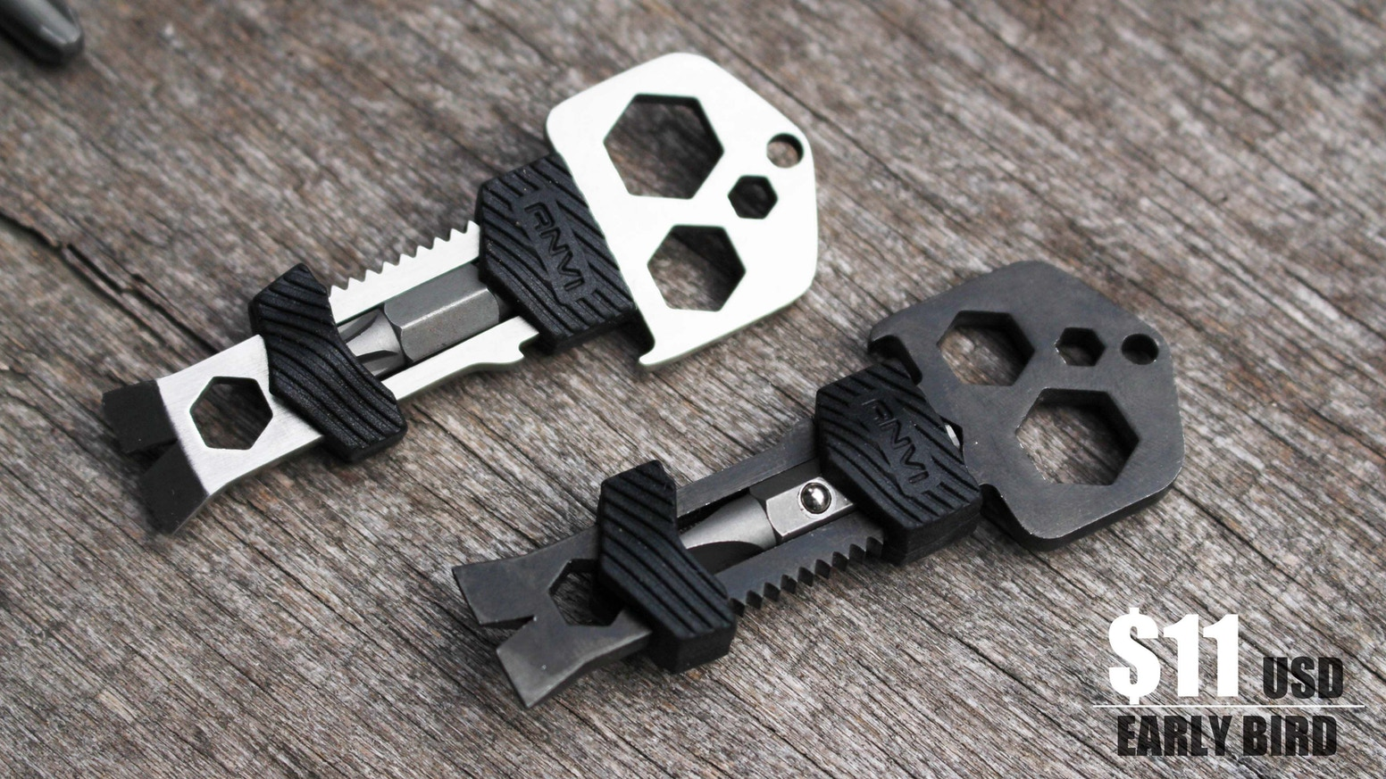 сумка Edc A 4 Format : Skey key shaped titanium multi tool now in black by