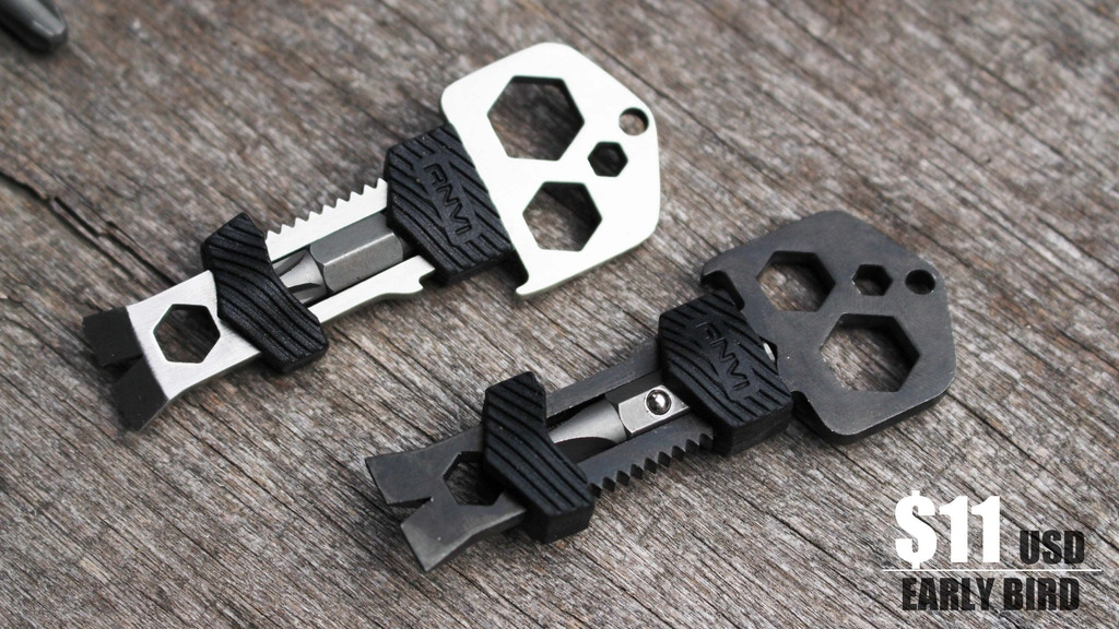 Skey : Key shaped Titanium multi-tool now in black :) project video thumbnail