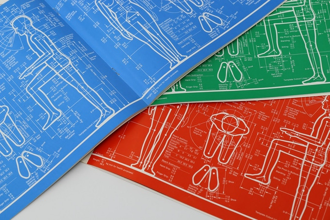 Example diagrams inside all three Humanscale booklets