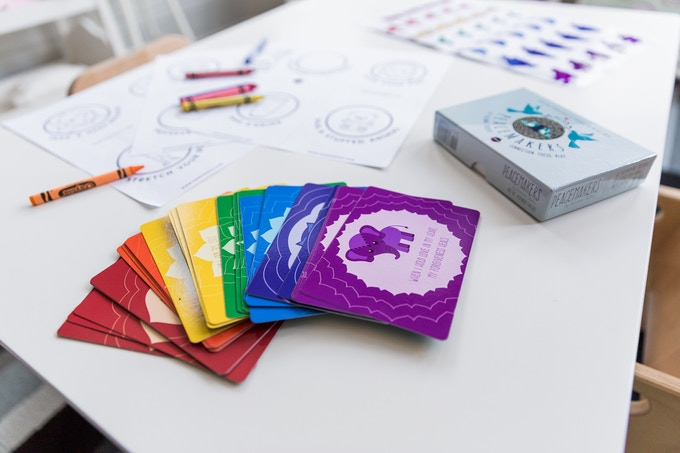 PeaceMakers: a mindfulness card game for all ages.