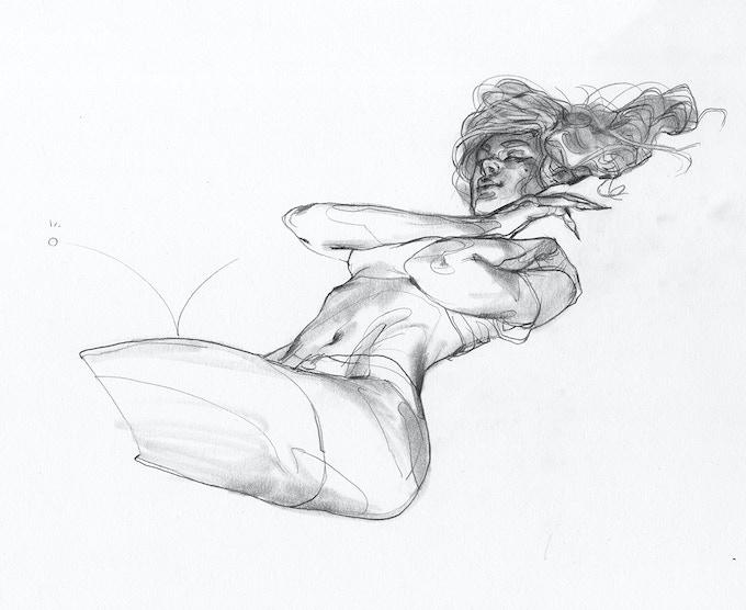 """Salty"", original graphite sketch, 8.5x11"
