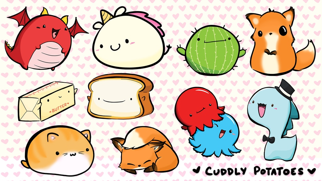 Cuddly Potatoes Acrylic Charms: Flufflebottoms & Friends project video thumbnail