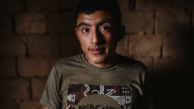 """""""I'd like to be an innovative coffee producer,"""" says Nolberto. He recently turned 22 and takes classes at a nearby university each year after the harvest ends."""