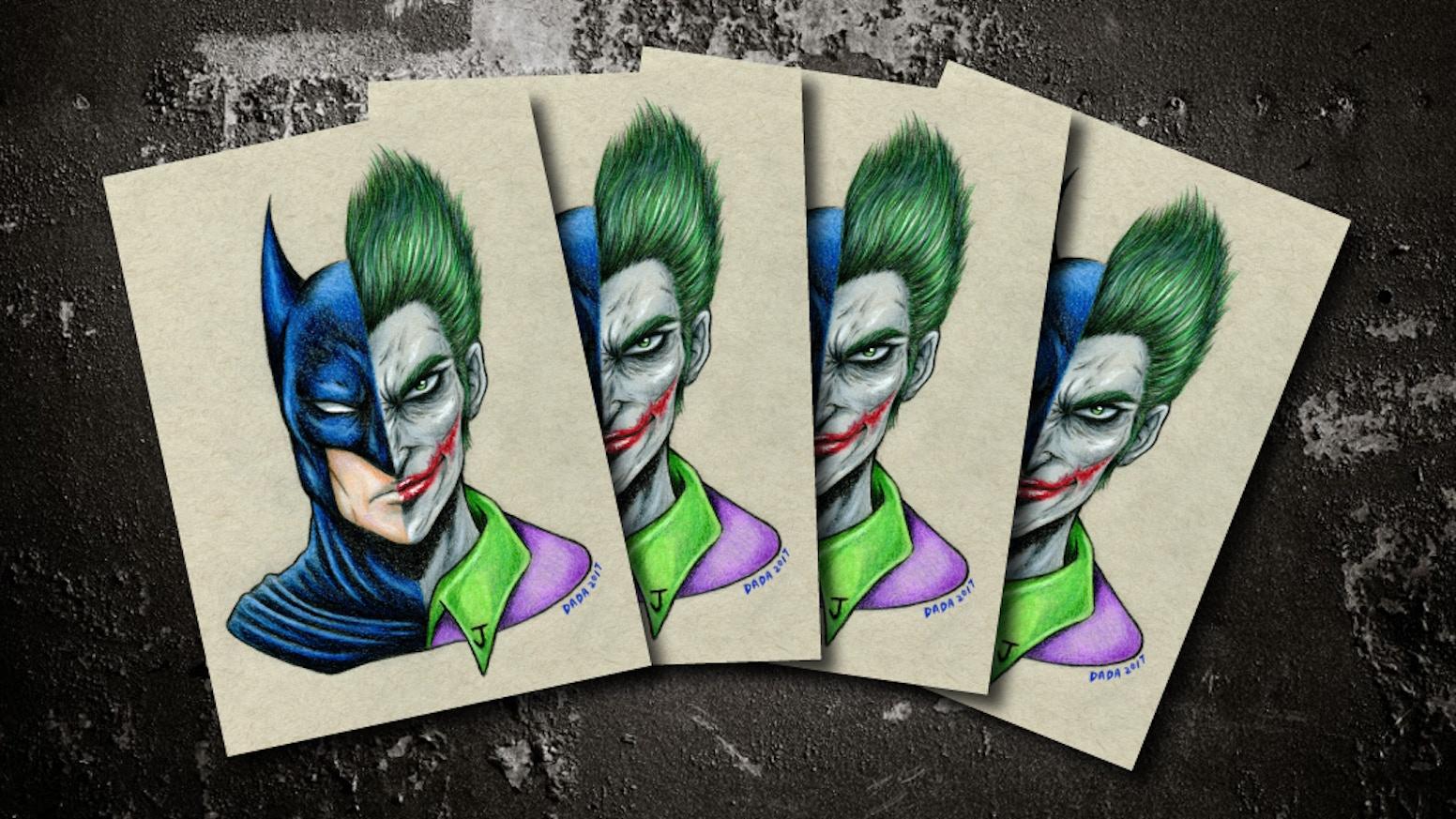 Batman vs joker stickers