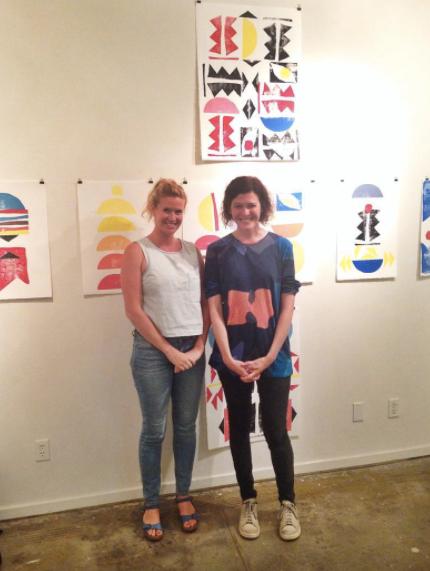 Fortmakers in front of their paintings, 2015- LPP+ Residency