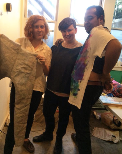 Bonanza getting ready for the fashion show they had at Incline Gallery, 2015- LPP+Residency