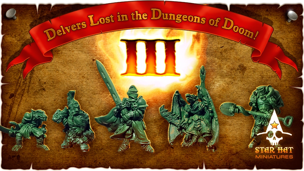 Dungeons of Doom III - Dragon Slayers - Star Hat Miniatures project video thumbnail