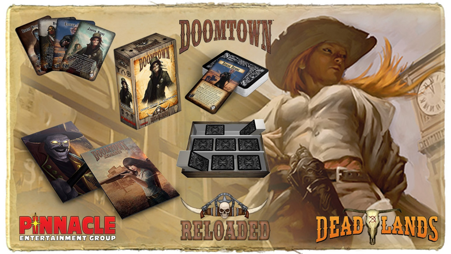 Doomtown Reloaded's newest expansion—There Comes a Reckoning—has revamped rules and the Servitors, the biggest badasses of Deadlands!