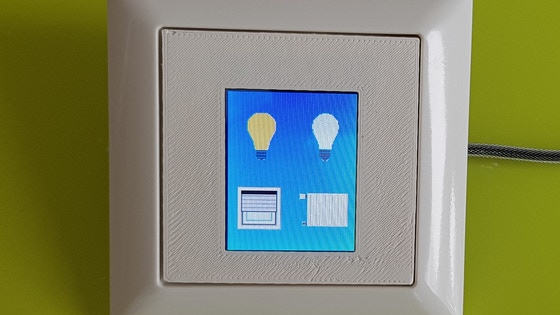Smart Home Touch Display for 55mm Standard Switch Series
