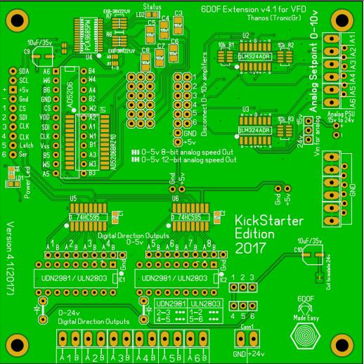 6DOF ext v4.1 Kickstarter Edition PCB