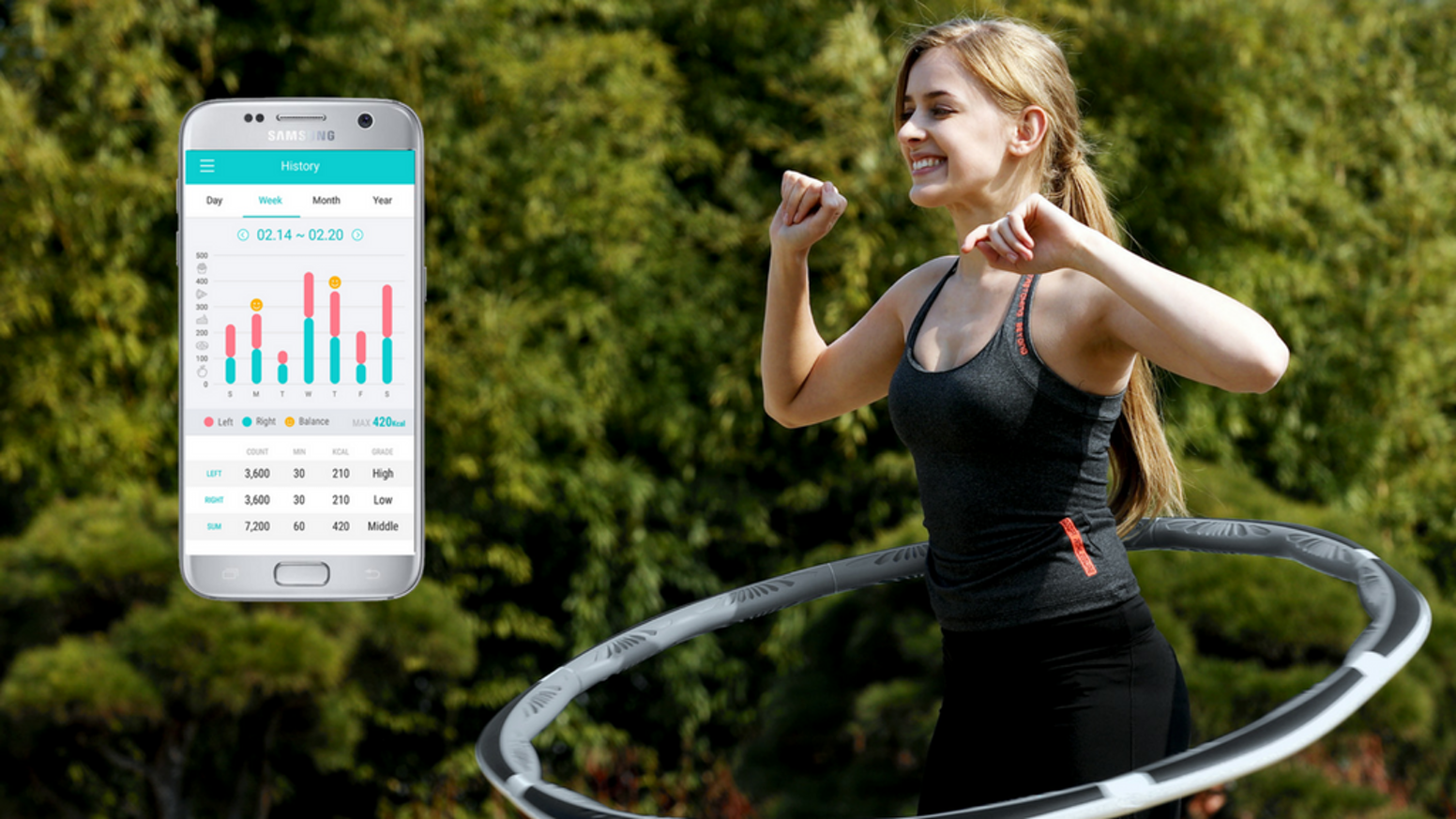Let the smart gym help you lose your love handles.