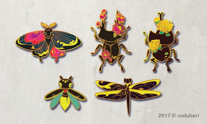Line up of the main set (Now with Dragonfly and Ladybugs!)