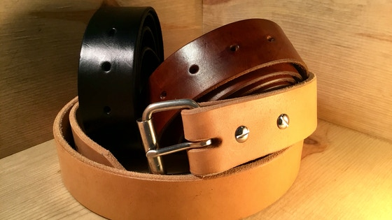 The Working Class Leather Belt / A Belt To Last A Lifetme