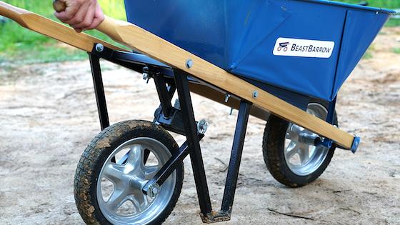 BeastBarrow - Patented In-Line Wheel Device for Wheelbarrows