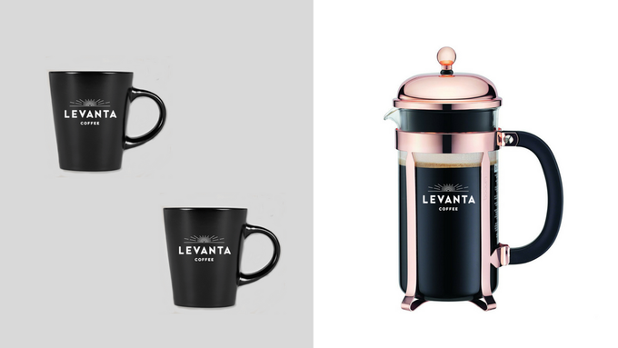 Press it. Press it real good–with your Levanta Coffee mugs to match.