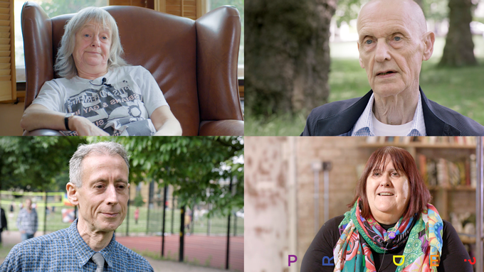 Jennie Lazenby, Stuart Feather, Peter Tatchell and Lisa Power - Interviewed in PRIDE?