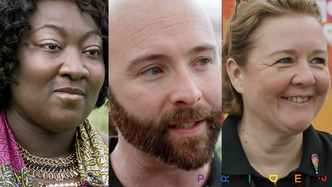 Phyll Opoko-Gyimah, Michael Salter-Church and Alison Camps - Interviewed in PRIDE?