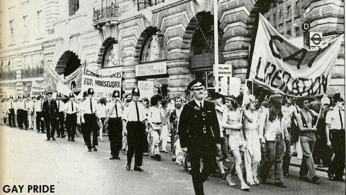 UK Pride March in 1980