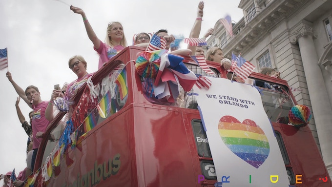 The Pride-In-London Parade.