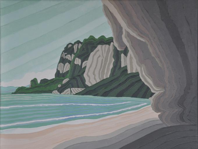 "8°N x 98°W - N; Tonsai Beach, Krabi, Thailand; March 2011; Acrylic on Canvas, 11x14"""