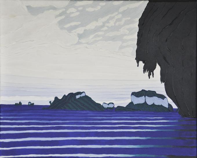 "8°N x 98°W - S; Ao Phra Nang Beach, Krabi, Thailand; March 2011; Acrylic on Canvas, 11x14"""
