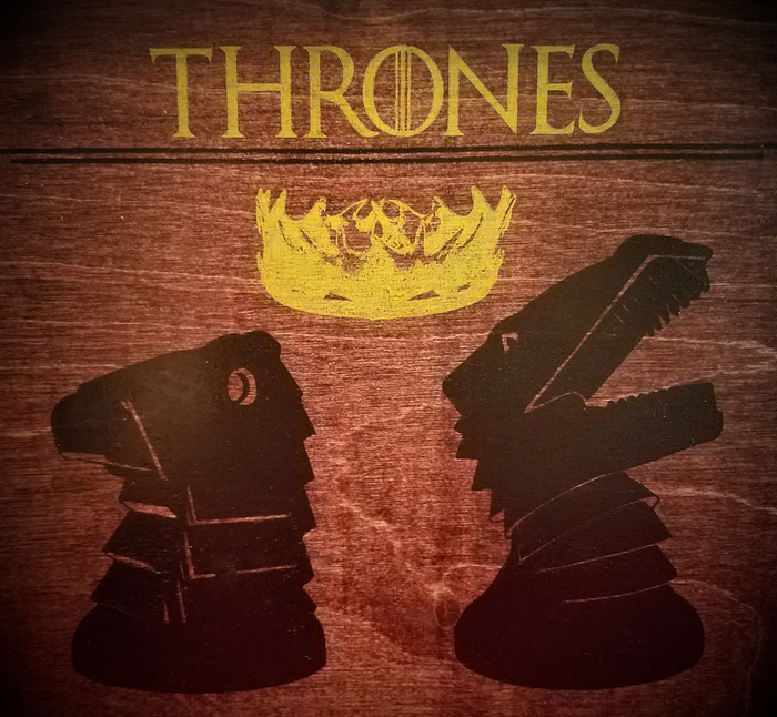 Thrones is a two-player strategy board game designed to reward creativity and improvisation, while never playing the same way twice.