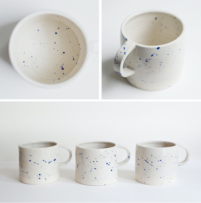Unique handmade Autodidact mugs made by ceramicist Lily Pearmain