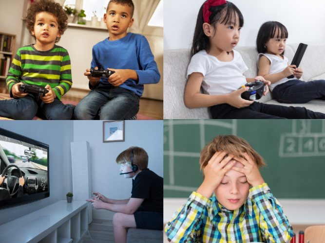 The average US child has 7.5 hours of screen time daily.
