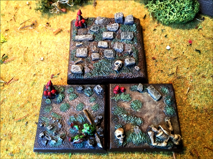 Painted examples of the resin base set.