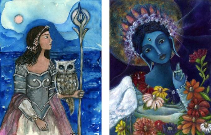 Athena & Blue Tara
