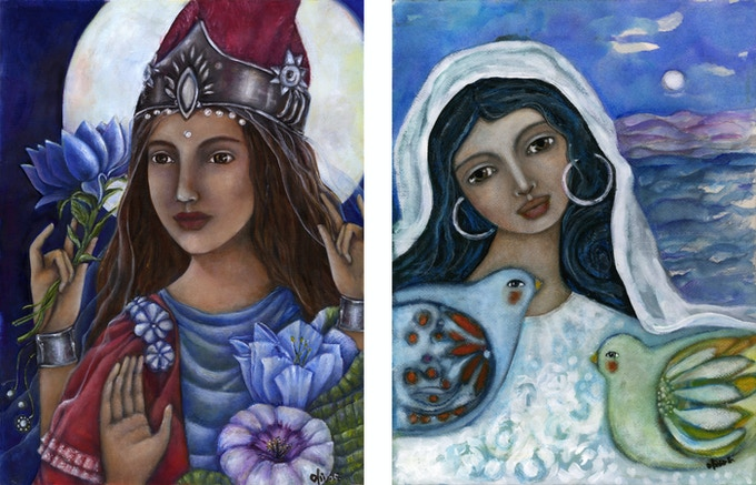 Lakshmi & Mary Magdalene
