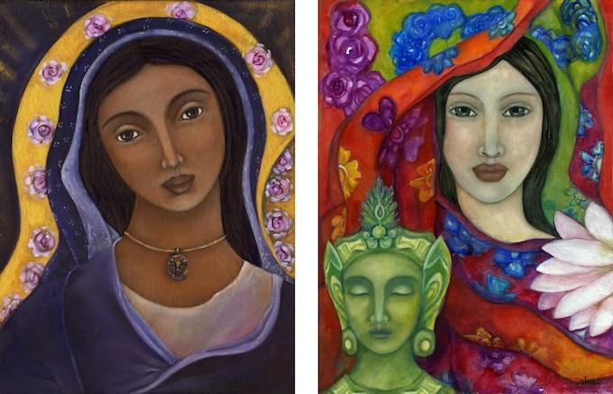 Virgin Mary & White Tara