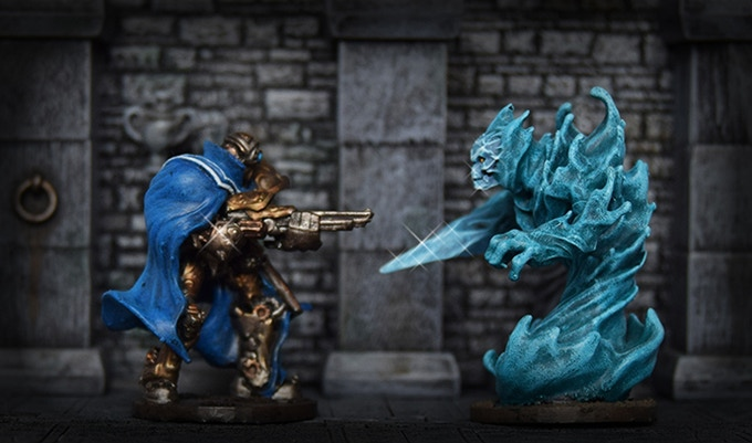 Painted Art Scene - Minis Come Unpainted