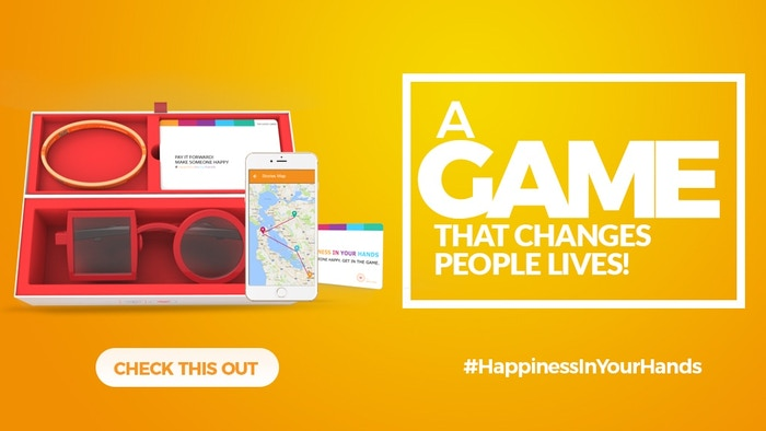 A real life game created to inspire more people to spread happiness one good deed at a time, one Good Card at a time.